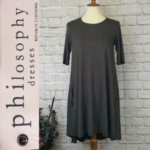 Philosophy Elbow Length Swing Dress XS